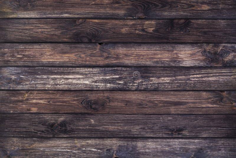 Fundo de madeira escuro, textura de madeira velha fotografia de stock