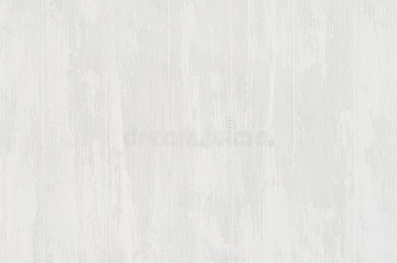 Fundo de madeira gasto velho branco da luz suave com prancha vertical foto de stock