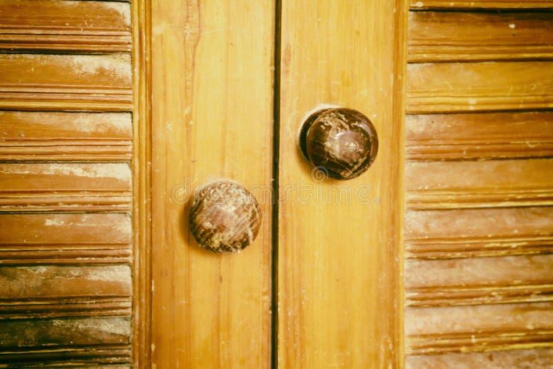 Fundo de madeira marrom velho do textute da porta ilustração do vetor