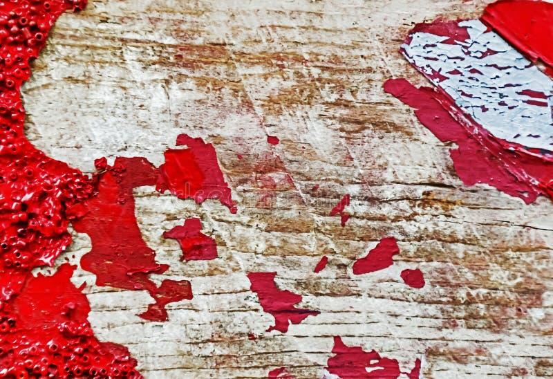 Fundo de madeira pintado velho da textura Fim acima Fundo do vintage Copie o espaço imagem de stock royalty free