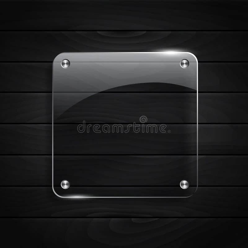 Fundo de madeira preto da textura ilustração stock