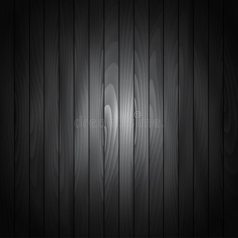 Fundo de madeira preto da textura ilustração do vetor