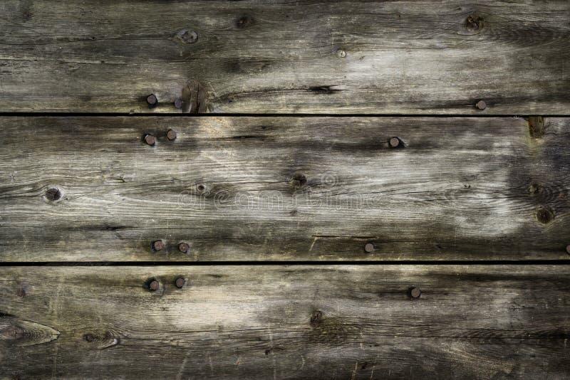 Fundo de madeira rústico das pranchas com vignetting agradável fotografia de stock