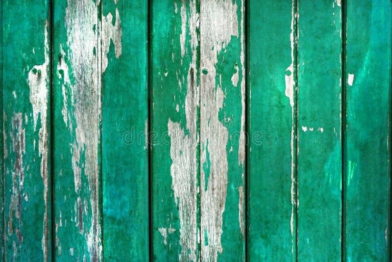 Fundo de madeira rústico velho na cor verde fotos de stock royalty free