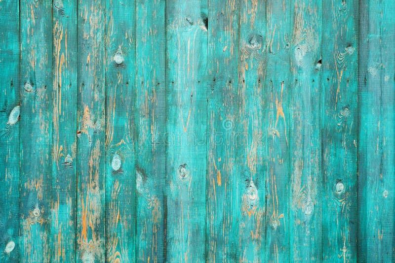 Fundo de madeira real verde da textura Vintage e velho