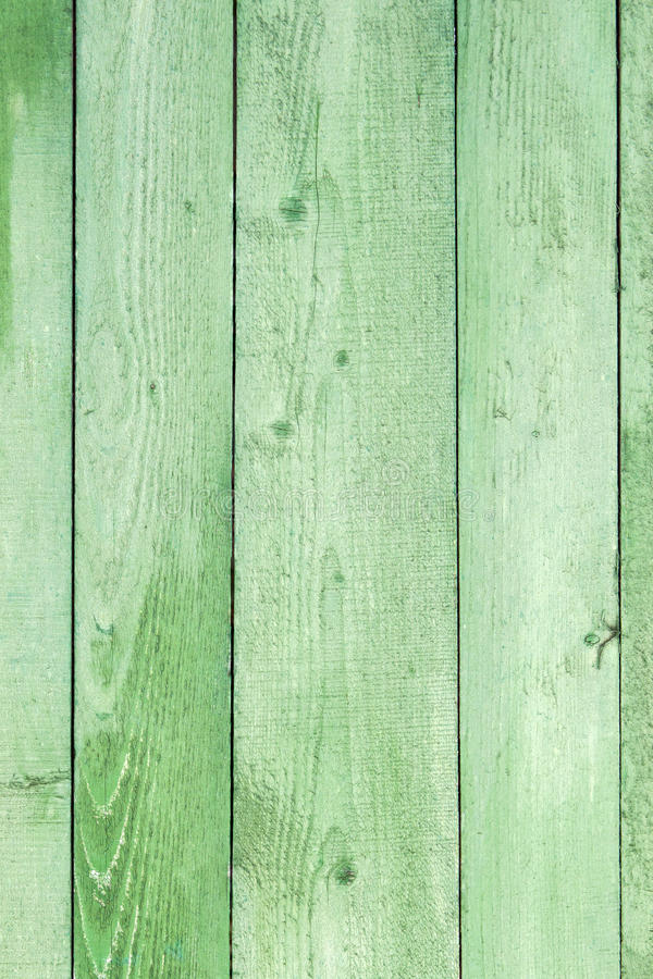 Fundo de madeira resistido natural das pranchas Velho pintado no verde fotos de stock royalty free