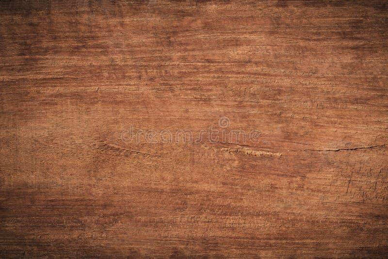 Fundo de madeira textured escuro do grunge velho, a superfície da textura de madeira marrom velha, paneling de madeira da teca do foto de stock
