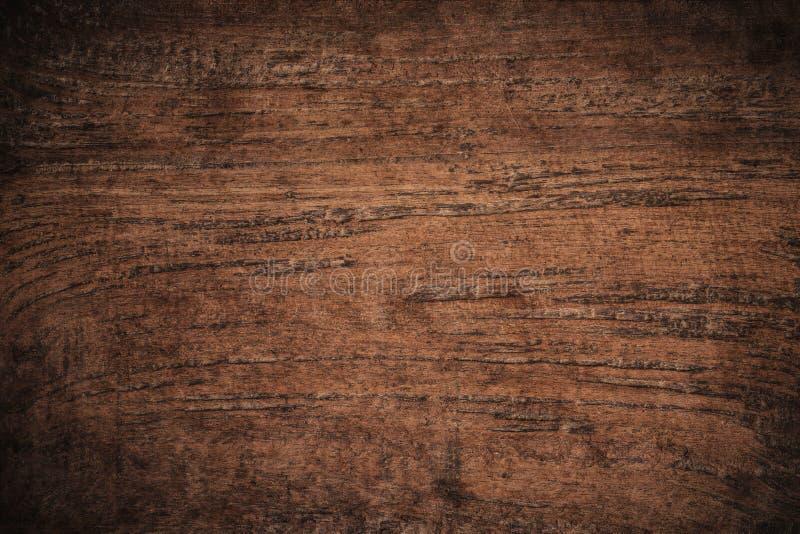 Fundo de madeira textured escuro do grunge velho, a superfície da textura de madeira marrom velha, paneling de madeira da teca do fotos de stock