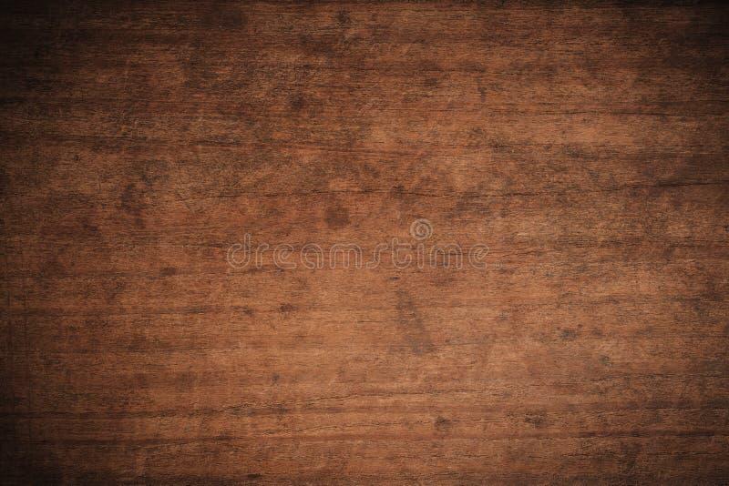Fundo de madeira textured escuro do grunge velho, a superfície da textura de madeira marrom velha, paneling de madeira da teca do imagens de stock