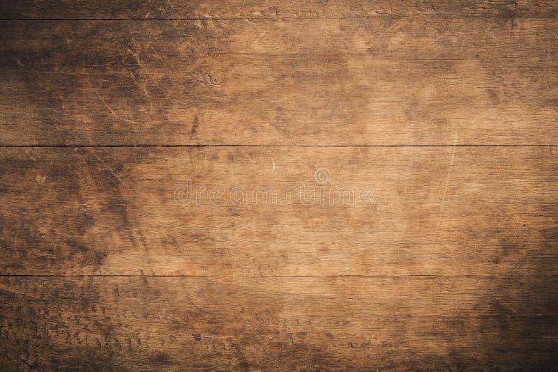 Fundo de madeira textured escuro do grunge velho, a superfície da textura de madeira marrom velha, paneling de madeira da teca do foto de stock royalty free