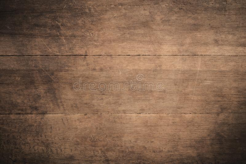 Fundo de madeira textured escuro do grunge velho, a superfície da textura de madeira marrom velha, paneling de madeira do marrom  imagens de stock royalty free