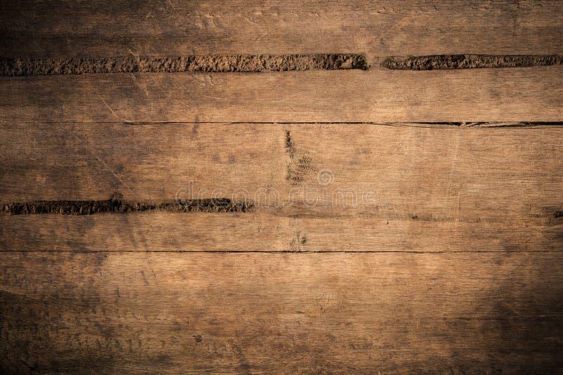 Fundo de madeira textured escuro do grunge velho, a superfície da textura de madeira marrom velha, paneling de madeira do marrom  fotos de stock