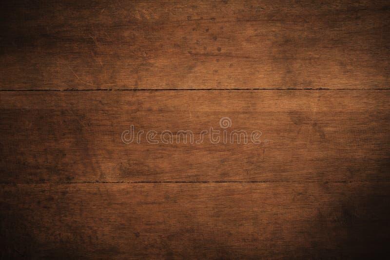 Fundo de madeira textured escuro do grunge velho, a superfície da textura de madeira marrom velha, paneling de madeira do marrom  imagem de stock royalty free