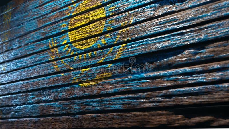 Fundo de madeira velho da textura ilustração do vetor