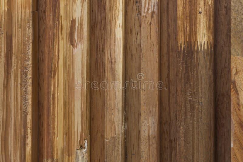Fundo de madeira velho da textura do marrom da prancha foto de stock royalty free