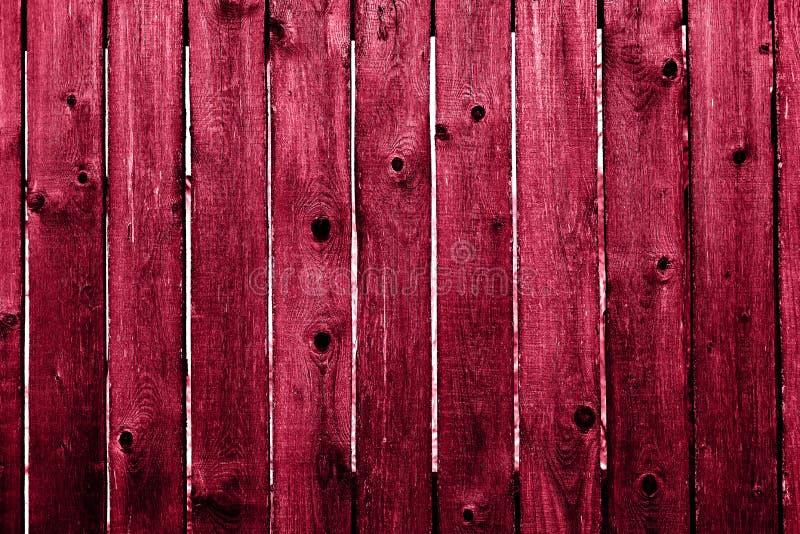 Fundo de madeira velho vermelho da textura fotos de stock royalty free