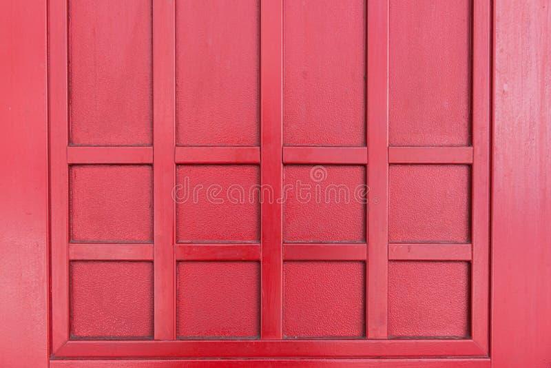 Fundo de madeira vermelho da textura imagens de stock