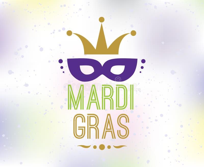 Fundo de Mardi Gras com tipografia ilustração royalty free