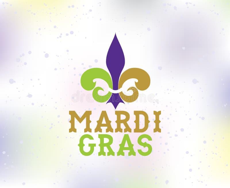 Fundo de Mardi Gras com tipografia ilustração do vetor