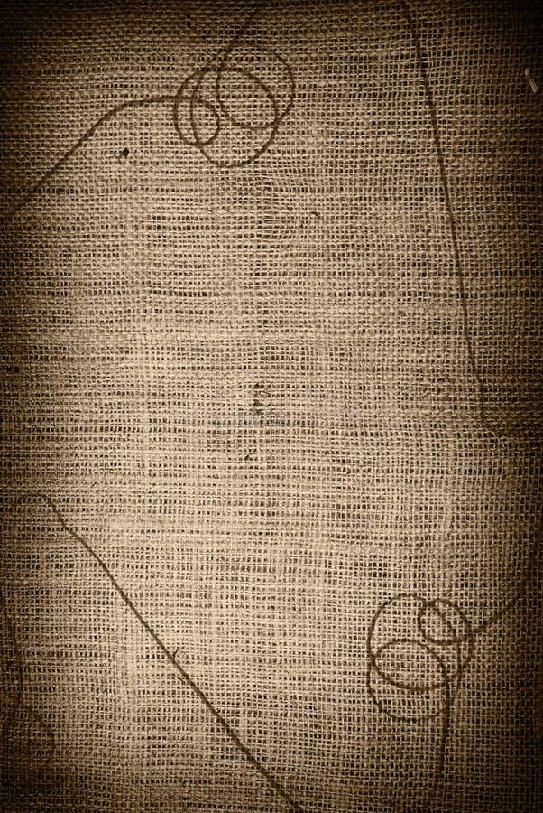 Fundo de matéria têxtil com linha ilustração do vetor