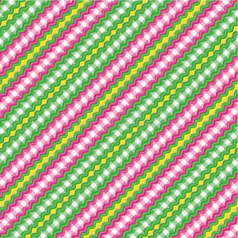 Fundo de matéria têxtil, teste padrão sem emenda incluído ilustração do vetor