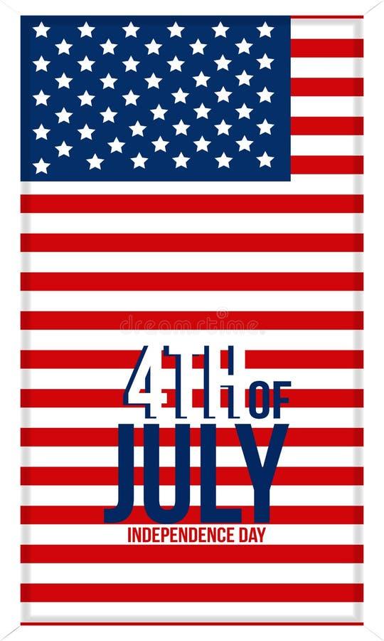 Fundo de Memorial Day com a bandeira nacional dos E.U., bandeira dos Estados Unidos Molde para o convite de Memorial Day, cart?o, ilustração do vetor