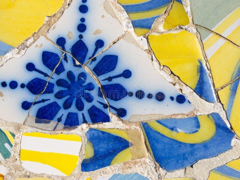 Fundo de mosaicos de Antonio Gaudi imagem de stock royalty free
