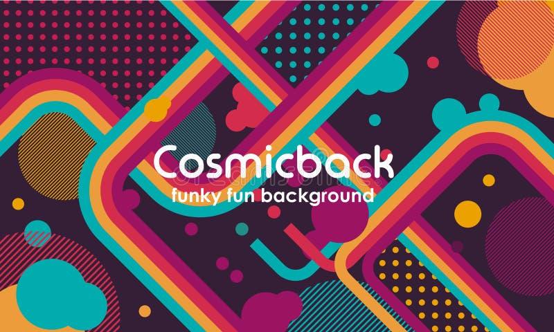 Fundo de néon funky do sumário do vetor da transmissão do programa televisivo Jazz, disco, partido, grafitti, festival da dança d ilustração do vetor