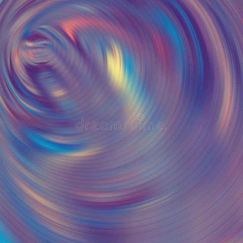 Fundo de n?on borrado sum?rio da cor hologram ilustração do vetor