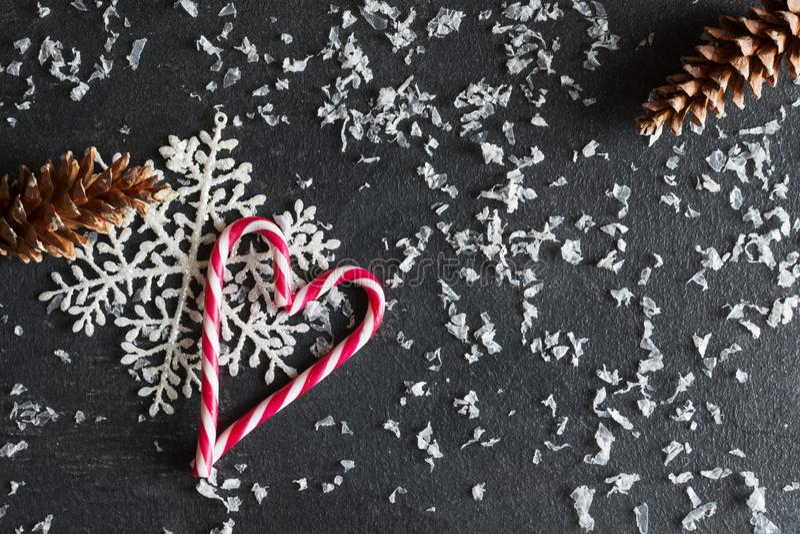 Fundo de Natal com decorações foto de stock royalty free