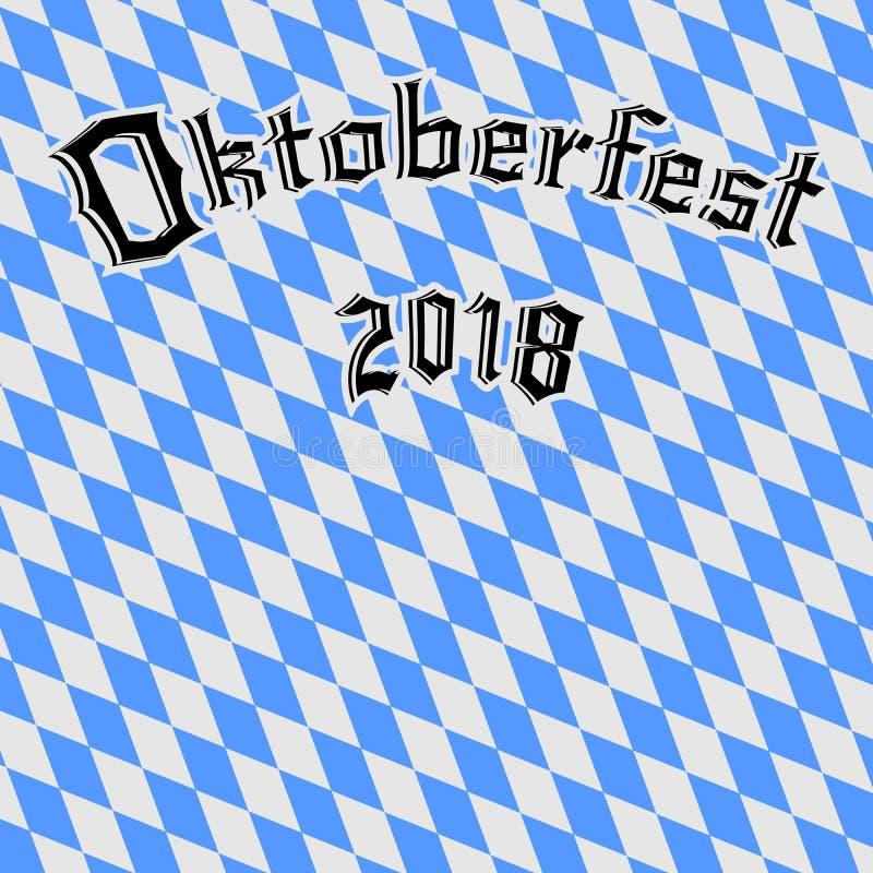 Fundo 2018 de Oktoberfest ilustração stock