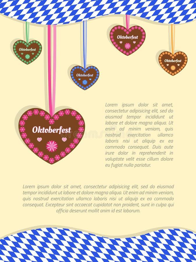Fundo 1 de Oktoberfest ilustração do vetor