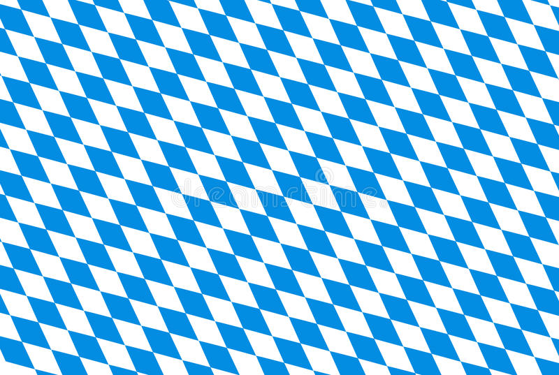Fundo de Oktoberfest com rombo repetível verificado azul ilustração do vetor