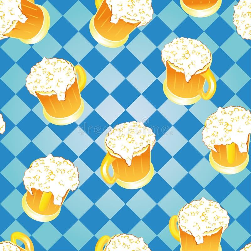 Fundo de Oktoberfest. Papel de parede da cerveja. ilustração stock