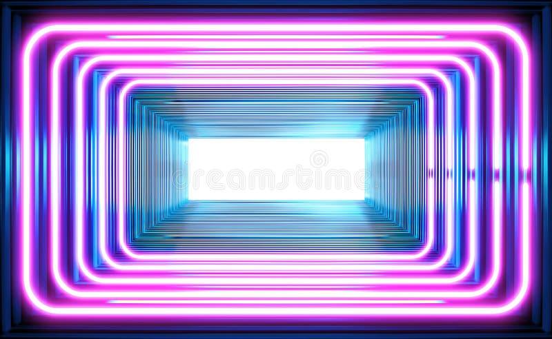 Fundo de ondas eletromagnéticas ilustração do vetor