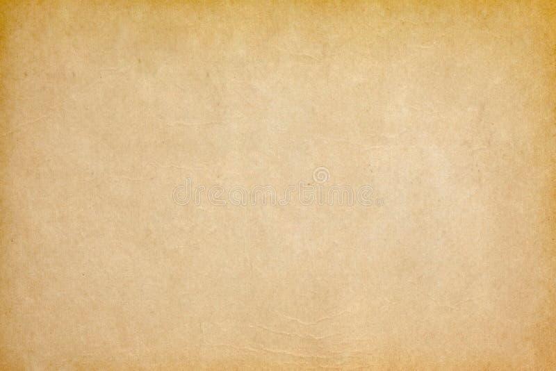 Fundo de papel amarelo velho fotos de stock royalty free