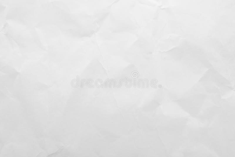 Fundo de papel amarrotado branco da textura Close-up foto de stock royalty free