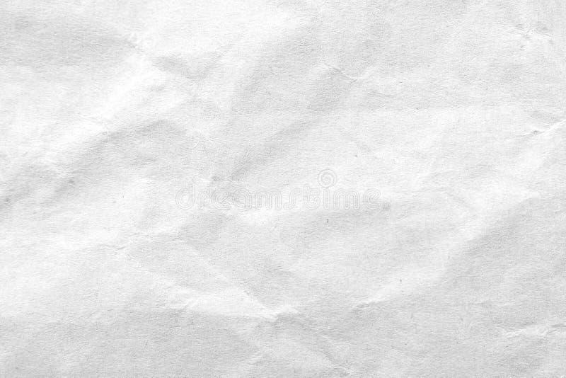 Fundo de papel amarrotado branco da textura Close-up imagens de stock