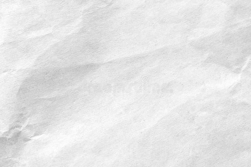 Fundo de papel amarrotado branco da textura Close-up fotografia de stock royalty free