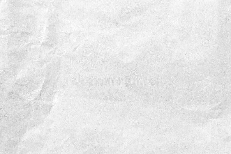 Fundo de papel amarrotado branco da textura Close-up fotos de stock