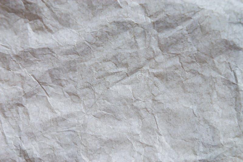 Fundo de papel amarrotado branco da textura foto de stock