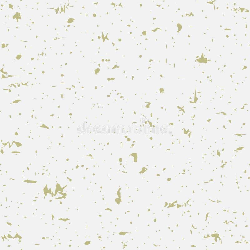 Fundo de papel bege salpicado reciclado sem emenda Vector a textura de papel com partículas do ouro dos restos ilustração royalty free