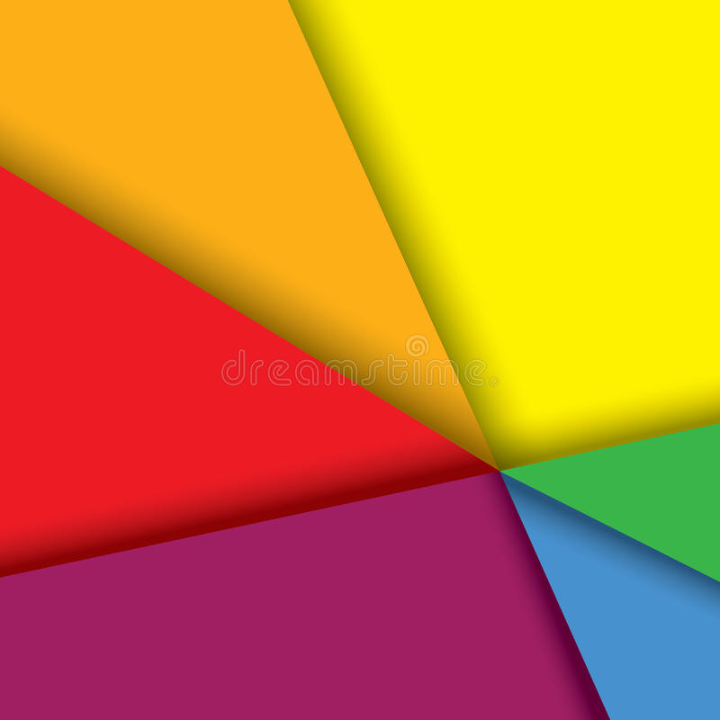 Fundo de papel colorido com linhas & sombras - v ilustração do vetor