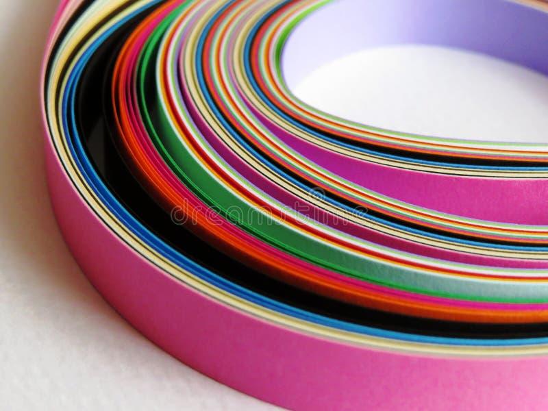 Fundo de papel colorido das tiras fotografia de stock