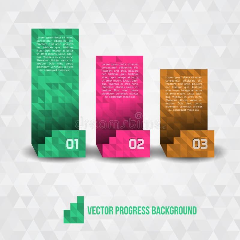 Fundo de papel do progresso ilustração do vetor