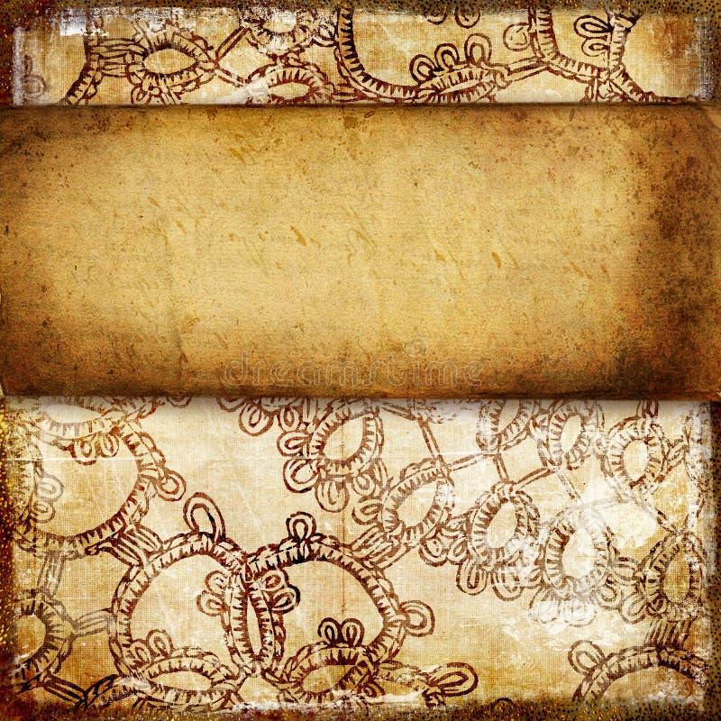 Fundo de papel do vintage ilustração royalty free