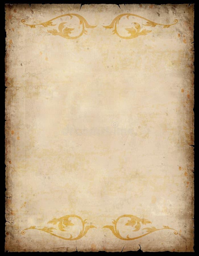 Fundo de papel do vintage com testes padrões imagem de stock royalty free
