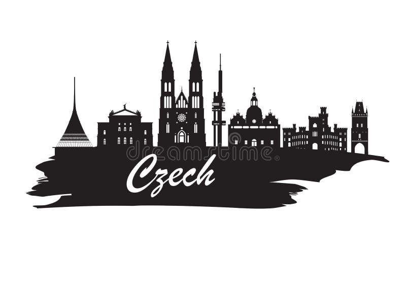 Fundo de papel global do curso e da viagem do marco checo Vecto ilustração do vetor