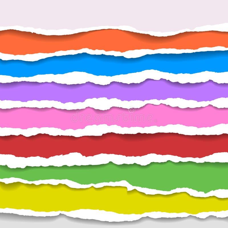 Fundo de papel rasgado com espaço para o texto Projete o vetor do molde da ilustração para a bandeira do página da web, feed noti ilustração stock