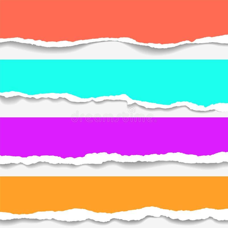 Fundo de papel rasgado com espaço para o texto Projete o vetor do molde da ilustração para a bandeira do página da web, feed noti ilustração royalty free